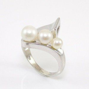 Solid 10K Gold Graduated Bypass Ring Size 6.25
